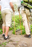 Two men hiking Stock Images