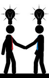 Two men with ideas. Vector / illustration. Two men with ideas Royalty Free Stock Photo