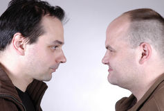Two men II. Portrait of two men Royalty Free Stock Photography