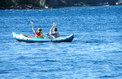 Two men in kayak Royalty Free Stock Photography