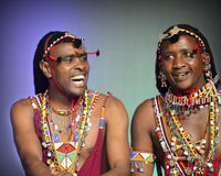 Two Men From Kenya Laughing Royalty Free Stock Photography