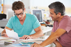 Two Men Meeting In Creative Office Stock Photos