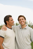 Two men outdoors Royalty Free Stock Images