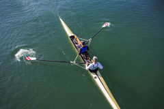 Two Men paddling Royalty Free Stock Photos