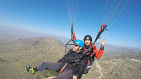 Two men paragliding Royalty Free Stock Images
