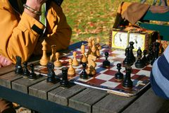 Free Two Men Play Chess Stock Images - 128943104