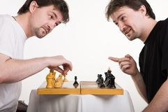 Two men play a chess Stock Image