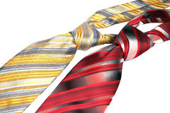 Two men's tie Royalty Free Stock Photography