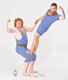 Two Men in Sailor Costumes royalty free stock image