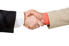 Two men shaking hands. (isolated Royalty Free Stock Photo