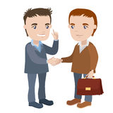 Two men shaking hands Stock Photography