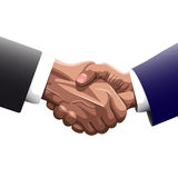 Two men shaking hands. Handshake of two men in business suits of the contracting or greet vector illustration