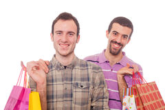 Two Men Shopping Royalty Free Stock Photography
