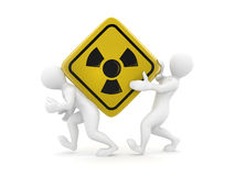 Two men with simbol of radiation Royalty Free Stock Images