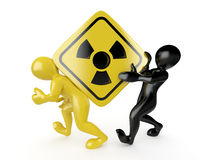 Two men with simbol of radiation Royalty Free Stock Image