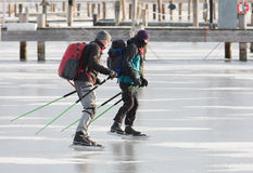 Two men skating Stock Photography