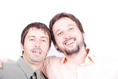 Two men smiling Royalty Free Stock Photography