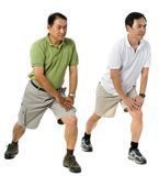 Two Men Stretching Stock Photography