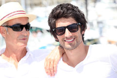 Two men on summer holiday Royalty Free Stock Photos