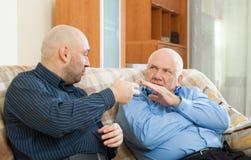 Two men  talking Stock Image
