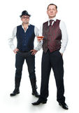 Two men in vests Stock Image