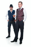 Two men in vests Royalty Free Stock Image