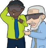 Two Men in Virtual Reality Stock Photo