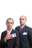 Two Men With Cash Royalty Free Stock Photos