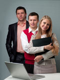 Two men and woman working Royalty Free Stock Photography