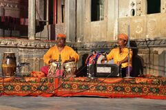 Two Mens Playing Rajasthani Traditional Music
