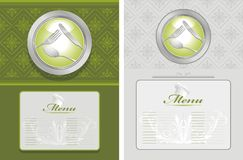 Two menu backgrounds Royalty Free Stock Photos