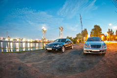 Two Mercedes E-Class w211 stock photo