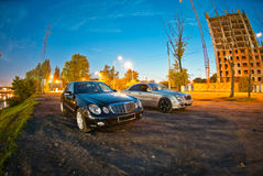 Two Mercedes E-Class w211 Stock Image