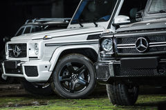 Two Mercedes G55 AMG tuning Royalty Free Stock Image