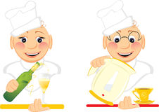 Two merry cooks Stock Photos