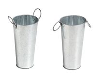 Two metal bucket Royalty Free Stock Photography