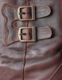 Two metal buckles. On a product from a leather Royalty Free Stock Images