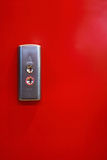 Two metal button with up and down arrows Royalty Free Stock Photo