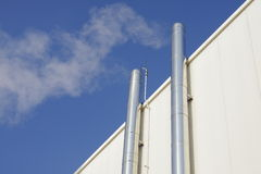 Two metal chimneystwo royalty free stock photography