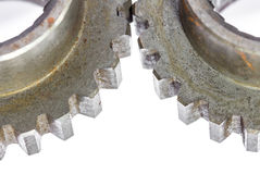 Two metal cog gears Royalty Free Stock Image