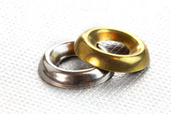 Two metal cup washers Royalty Free Stock Image