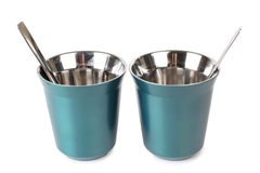 Two metal cups Stock Image
