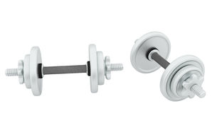 Two metal dumbbell Royalty Free Stock Photos