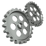 Two metal gears Royalty Free Stock Photo