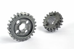 Two metal gears Stock Photography