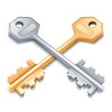 Two metal keys. Stock Image