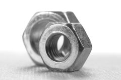 Two metal nuts Stock Photo