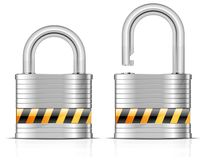 Two metal padlocks Stock Photography