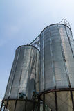 Two metal silo Royalty Free Stock Photo