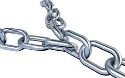 Two Metallic Chains Royalty Free Stock Photos